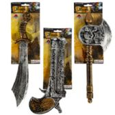 48 Units of Assorted Plastic Pirate Weapons with Tie On Card - Costumes & Accessories