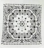 96 Units of Paisley Style with Skull - Bandanas