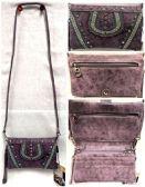 4 Units of Purple Rhinestone American Bling Clutch Purse - Shoulder Bags & Messenger Bags
