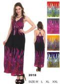 24 Units of Long Maxi Peacock Pattern Dresses - Womens Sundresses & Fashion