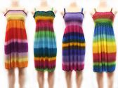 24 Units of Adult Tie Dye Horizontal Stripe Dresses - Womens Sundresses & Fashion