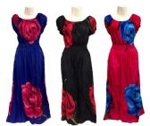 12 Units of Long Maxi Dress with Big Rose - Womens Sundresses & Fashion