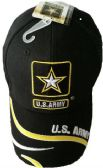 12 Units of Official Licensed US Army with Star Embroied Hats - Baseball Caps & Snap Backs