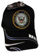 12 Units of Official Licensed US Navy Logo Embroideried Hats - Baseball Caps & Snap Backs