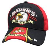 6 Units of Official Licensed US Marine Hats Screaming Eagle - Baseball Caps & Snap Backs