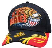 6 Units of Official Licensed US Marines Baseball Hats Spiker - Baseball Caps & Snap Backs