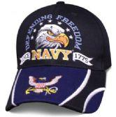 12 Units of Official Licensed US Navy Hats Star Striker Eagle Head - Baseball Caps & Snap Backs