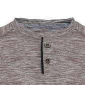 24 Units of MEN'S PERFORMANCE MELANGE HENLEY TEE IN BROWN - Mens T-Shirts