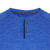 24 Units of MEN'S PERFORMANCE MELANGE HENLEY TEE IN ROYAL - Mens T-Shirts