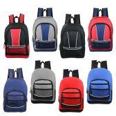 "24 Units of 17"" Wholesale Kids Sport Backpacks in 8 Assorted Styles - Backpacks 17"""