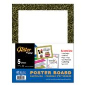 "48 Units of BAZIC 11"" X 14"" White Poster Board w/Glitter Frame - Poster & Foam Boards"