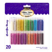 72 Units of BAZIC 2g Glitter Tubes (20/Pack) - Craft Glue & Glitter