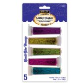 144 Units of BAZIC 6g / 0.21 Oz. 5 Neon Color Glitter Shaker - Craft Glue & Glitter