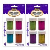 72 Units of BAZIC 8g / 0.28 Oz. 4 Neon Color Glitter Shaker - Craft Glue & Glitter