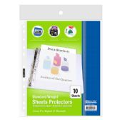 48 Units of BAZIC Standard Weight Top Loading Sheet Protectors (10/Pack) - Clipboards and Binders