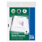 24 Units of BAZIC Heavy Weight Top Loading Sheet Protectors (10/Pack) - Clipboards and Binders