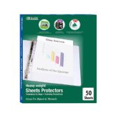 10 Units of BAZIC Heavy Weight Top Loading Sheet Protectors (50/Box) - Clipboards and Binders