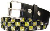 60 Units of Studded Belt Black And Yellow - Unisex Fashion Belts