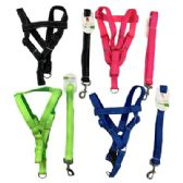 "24 Units of Nylon Dog Harness with 48"" Leash [Medium] - Pet Collars and Leashes"