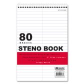 "48 Units of BAZIC 80 Ct. 6"" X 9"" White Paper Gregg Ruled Steno Book - Note Books & Writing Pads"