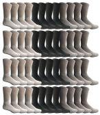 60 Units of Wholesale Bulk Sport Cotton Unisex Crew Socks Value Deal Mens - Assorted Crew Size 10-13 - Mens Crew Socks