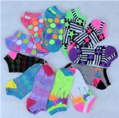 120 Units of Assorted Printed Women's Cotton Blend Ankle Socks - Womens Ankle Sock