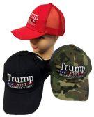 24 Units of Adjustable Baseball Hat Trump 2020 Mesh - Baseball Caps & Snap Backs