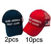 24 Units of Make America Great Again With Mesh - Baseball Caps & Snap Backs