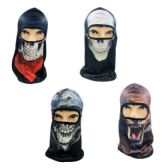 36 Units of Graphics Printed Ninja Face Mask - Costumes & Accessories