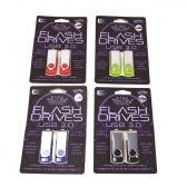 24 Units of Two Piece 4GB Swivel USB Dual pack in Clamshell - Flash Drives