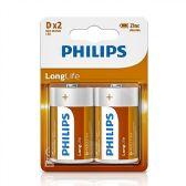 24 Units of Super Heavy Duty D Philips Battery - Batteries