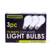 60 Units of 3 Pieces Soft White Bulb 75 watts - Lightbulbs