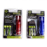 72 Units of Heavy Duty 9 LED Flashlight - Lightbulbs