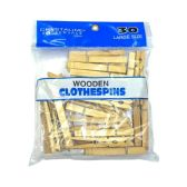 72 Units of Large Wooden Clothespins - Clothes Pins