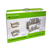 12 Units of 2 Layer Dish Drainer - Dish Drying Racks