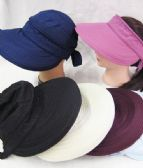 24 Units of Women's Sun Visor In Assorted Colors - Sun Hats