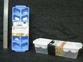 48 Units of 2 Piece Plastic Ice Tray with Storage - Kitchen