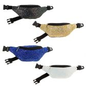 24 Units of Travel Fanny Pack Money Belt in 4 Assorted Colors - Fanny Pack