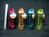 24 Units of 800ml Plastic Water Bottle with Straw - Drinking Water Bottle