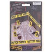 48 Units of 8pk Crime Scene Kit - Halloween & Thanksgiving