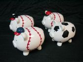 8 Units of Large Piggy Bank Sports Design - Coin Holders & Banks