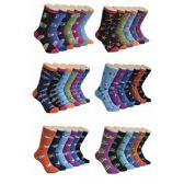 360 Units of Women's Ocean Print Crew Socks - Womens Crew Sock