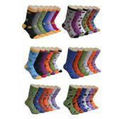 360 Units of Women's Insect Print Crew Socks - Womens Crew Sock