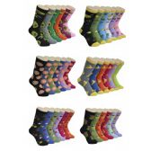 360 Units of Women's Fruit Print Crew Socks - Womens Crew Sock