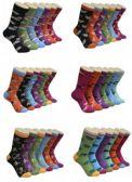 360 Units of Women's Animal Print Crew Socks - Womens Crew Sock