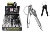60 Units of STAINLESS STEEL KEYCHAIN SCREWDRIVERS (2 PC) - Key Chains