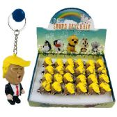"""24 Units of 2.5"""" Light Up Key Chain with Sound (TRUMP) - Key Chains"""