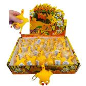 24 Units of Squishy Chicken with Egg Key Chain - Key Chains