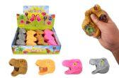 72 Units of Flashing Dino Head Squish Ball - Slime & Squishees