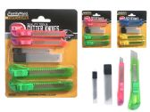 144 Units of Cutter Knives - Box Cutters and Blades